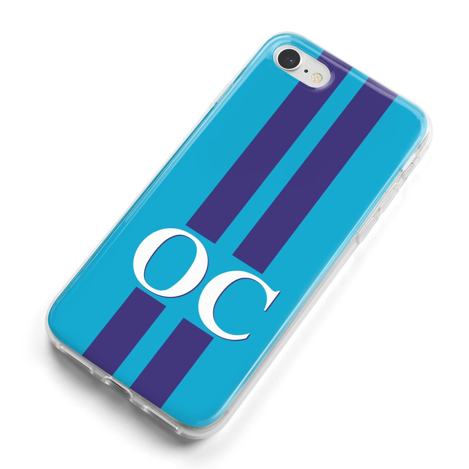 Turquoise Personalised iPhone 8 Bumper Case on Silver iPhone Alternative Image