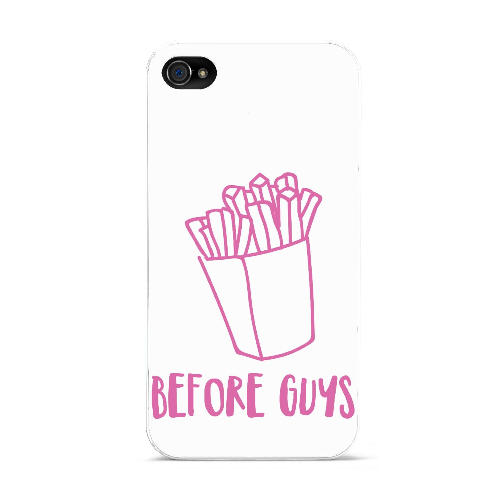 Valentines Fries Before Guys Apple iPhone 4s Case