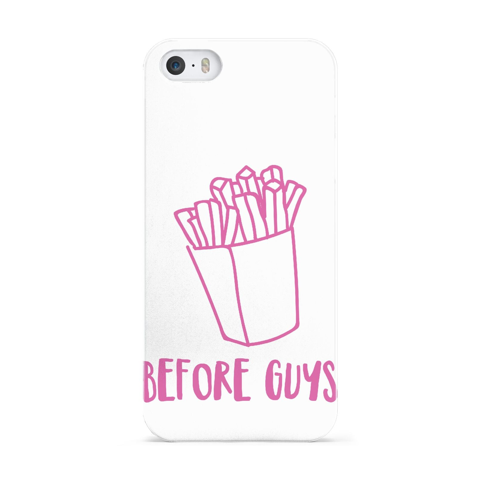 Valentines Fries Before Guys Apple iPhone 5 Case