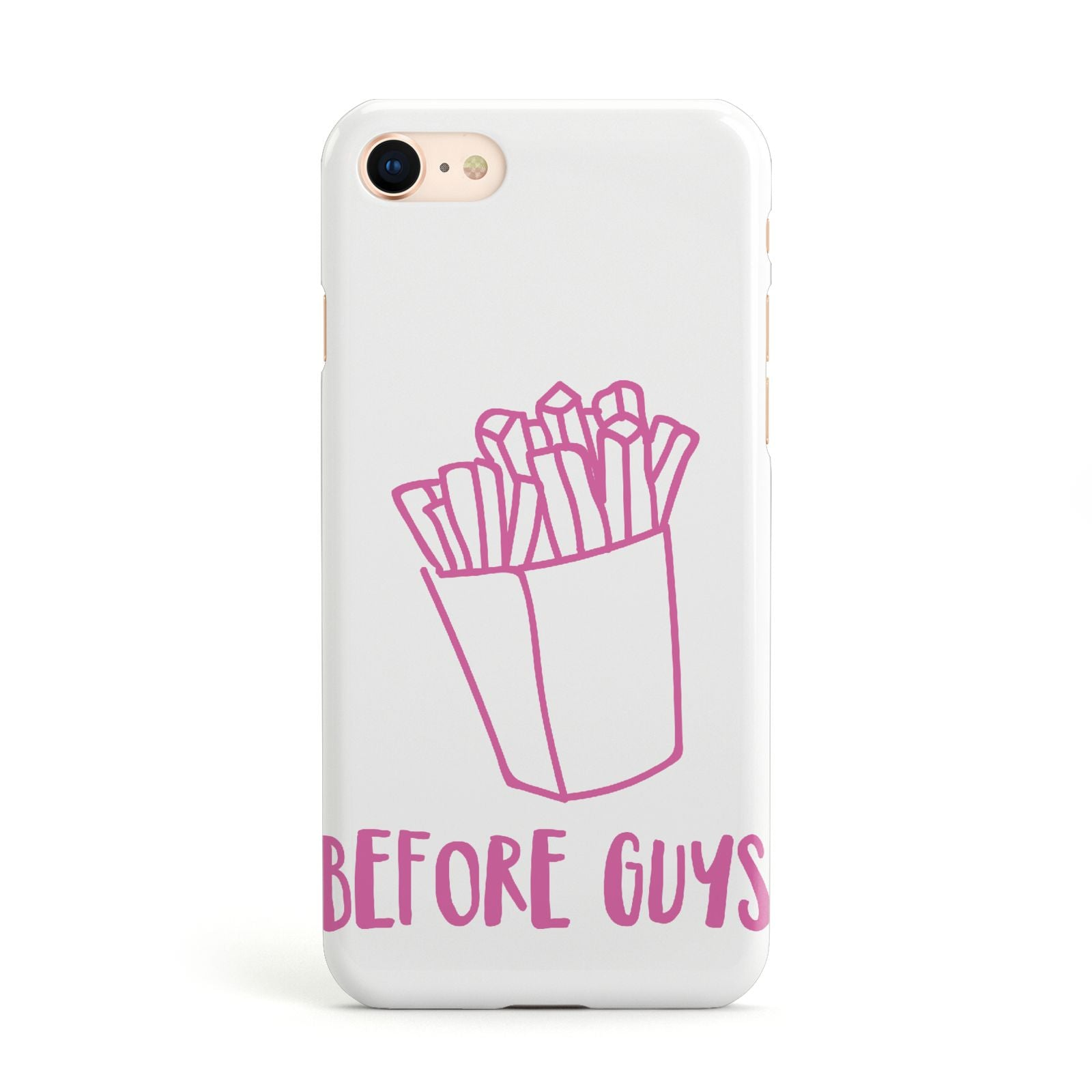 Valentines Fries Before Guys Apple iPhone Case