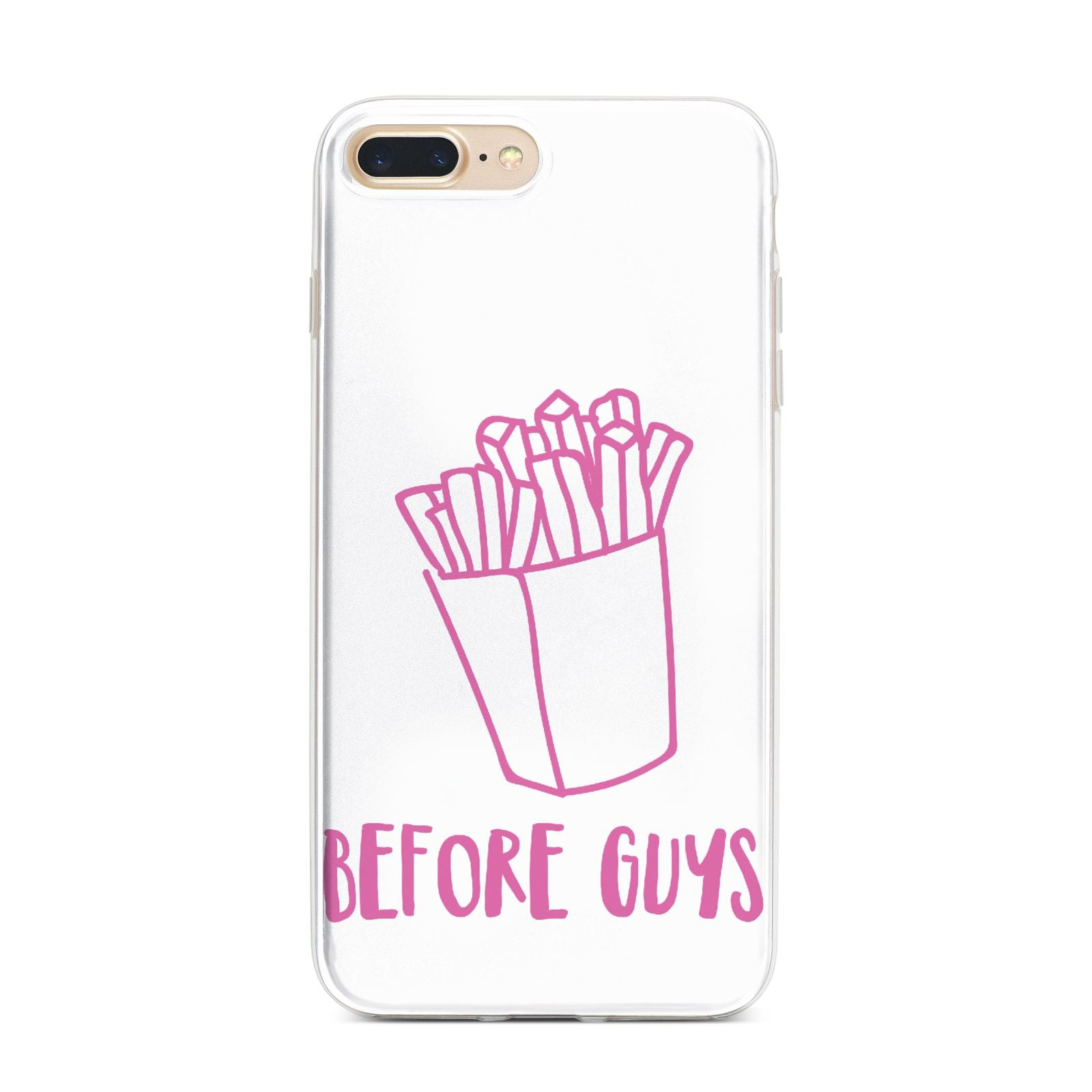 Valentines Fries Before Guys iPhone 7 Plus Bumper Case on Gold iPhone