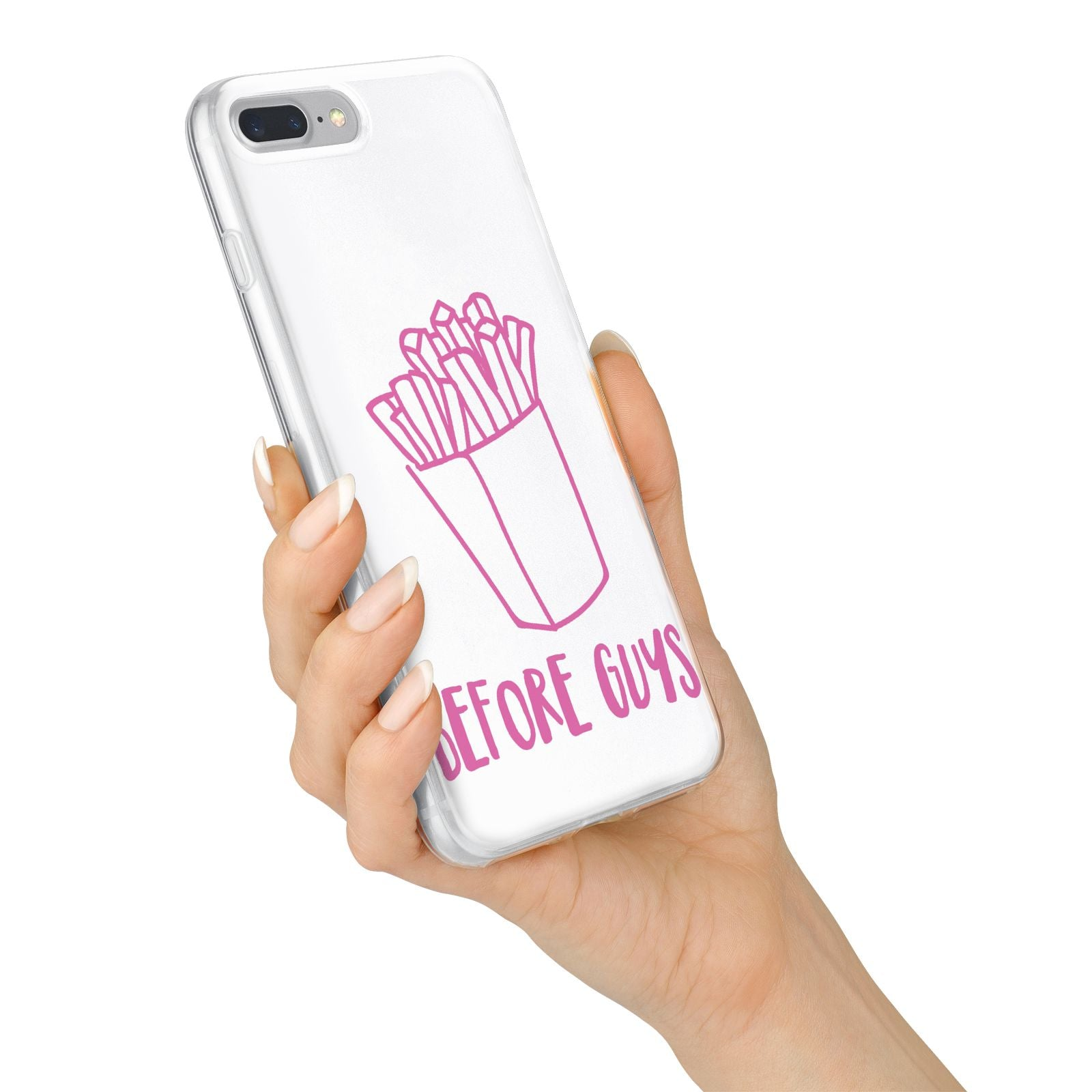 Valentines Fries Before Guys iPhone 7 Plus Bumper Case on Silver iPhone Alternative Image