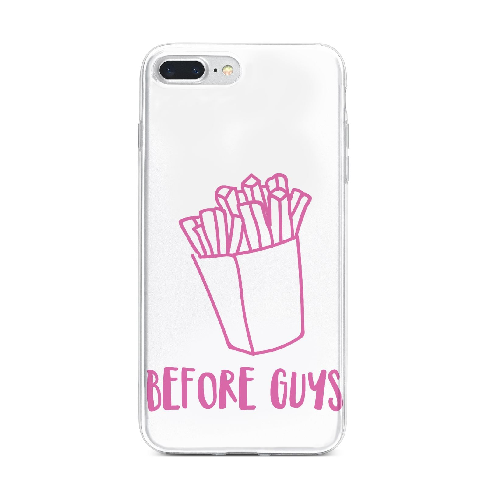 Valentines Fries Before Guys iPhone 7 Plus Bumper Case on Silver iPhone