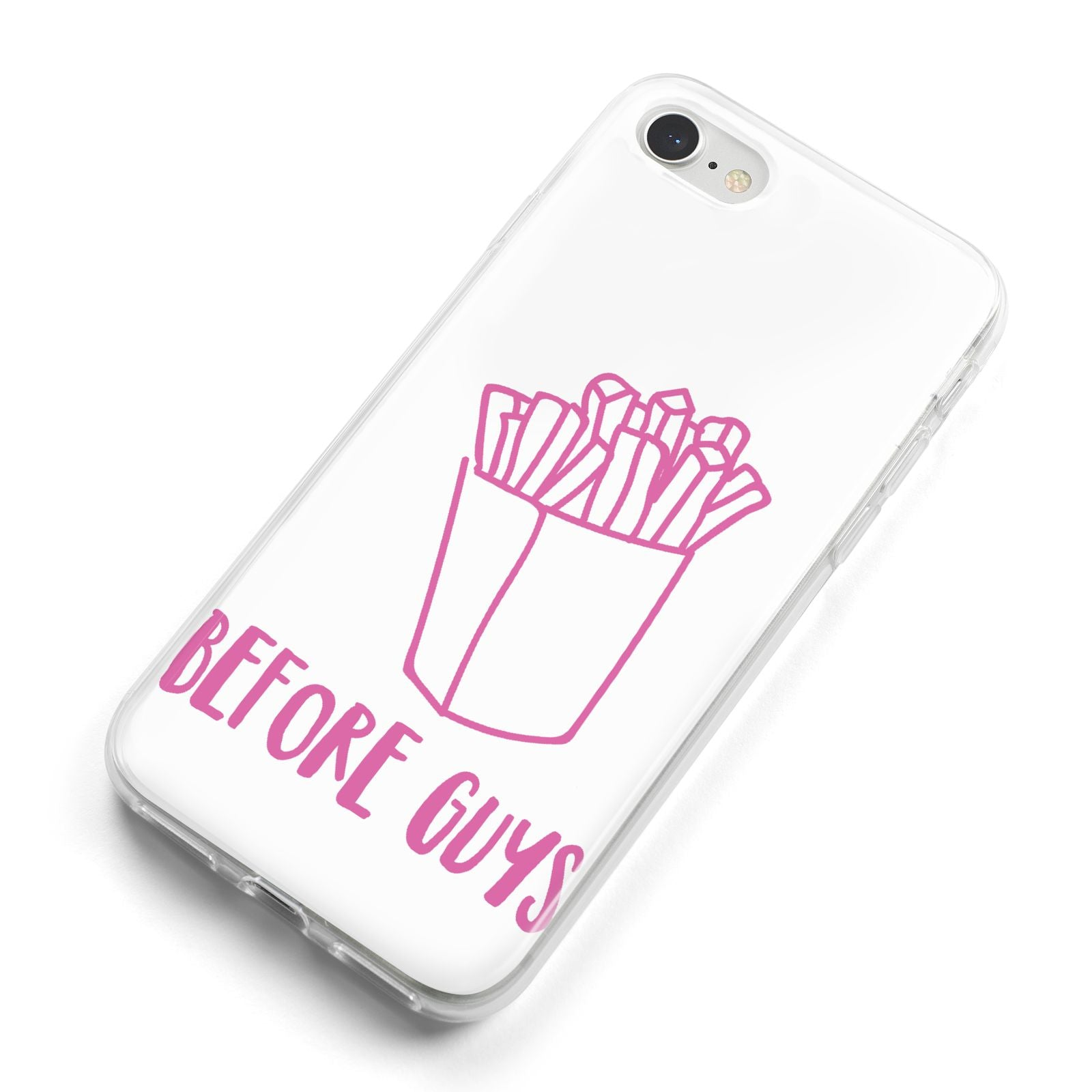 Valentines Fries Before Guys iPhone 8 Bumper Case on Silver iPhone Alternative Image