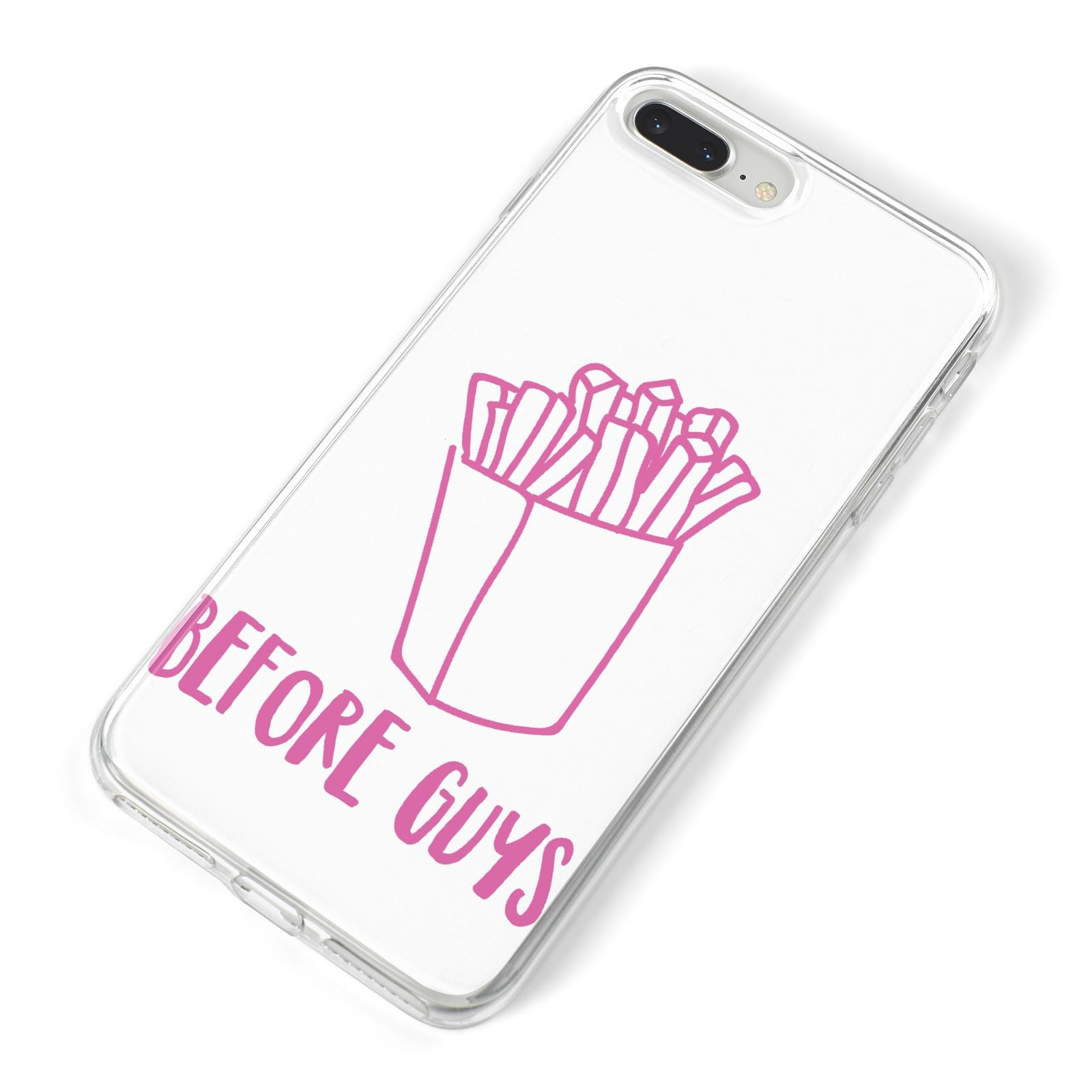 Valentines Fries Before Guys iPhone 8 Plus Bumper Case on Silver iPhone Alternative Image