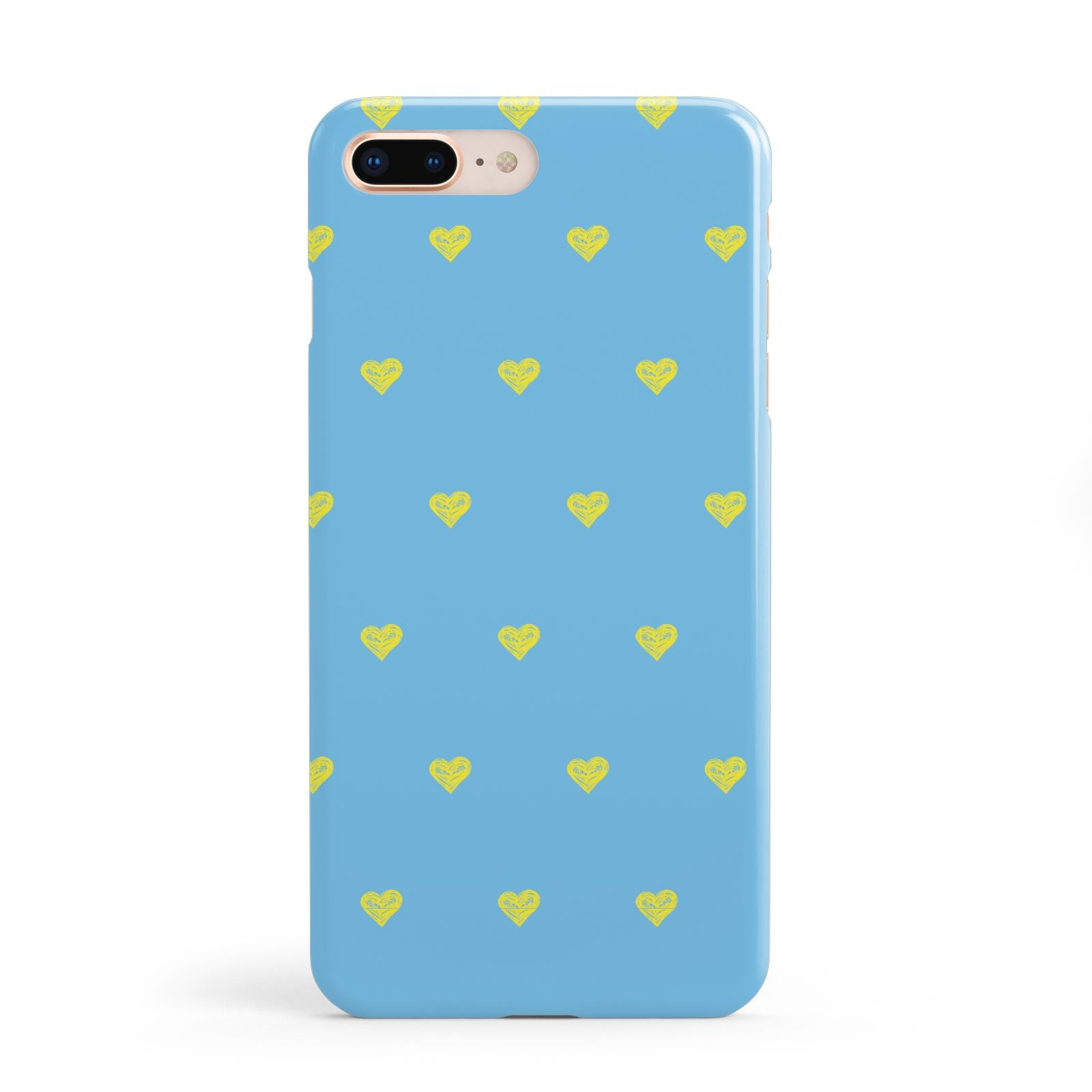 Valentines Hearts Polka Dot Apple iPhone 8 Plus Case