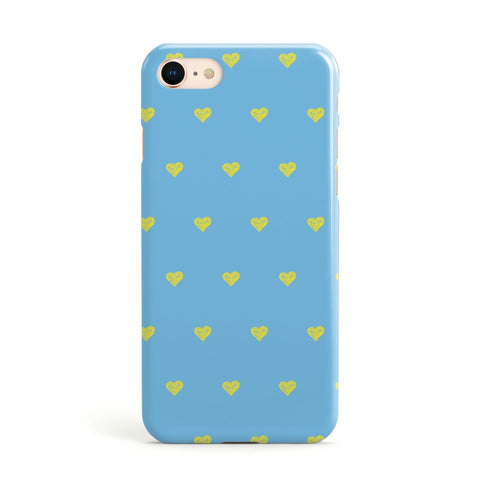Valentines Hearts Polka Dot Apple iPhone Case