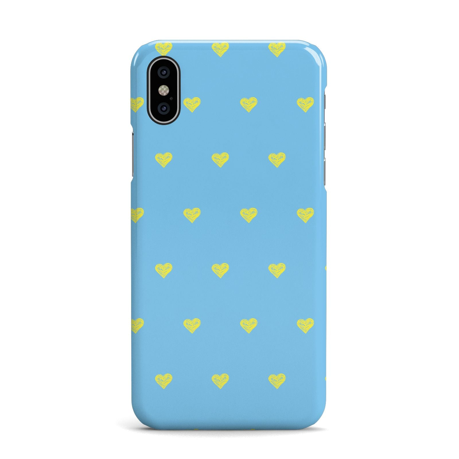 Valentines Hearts Polka Dot Apple iPhone X Case