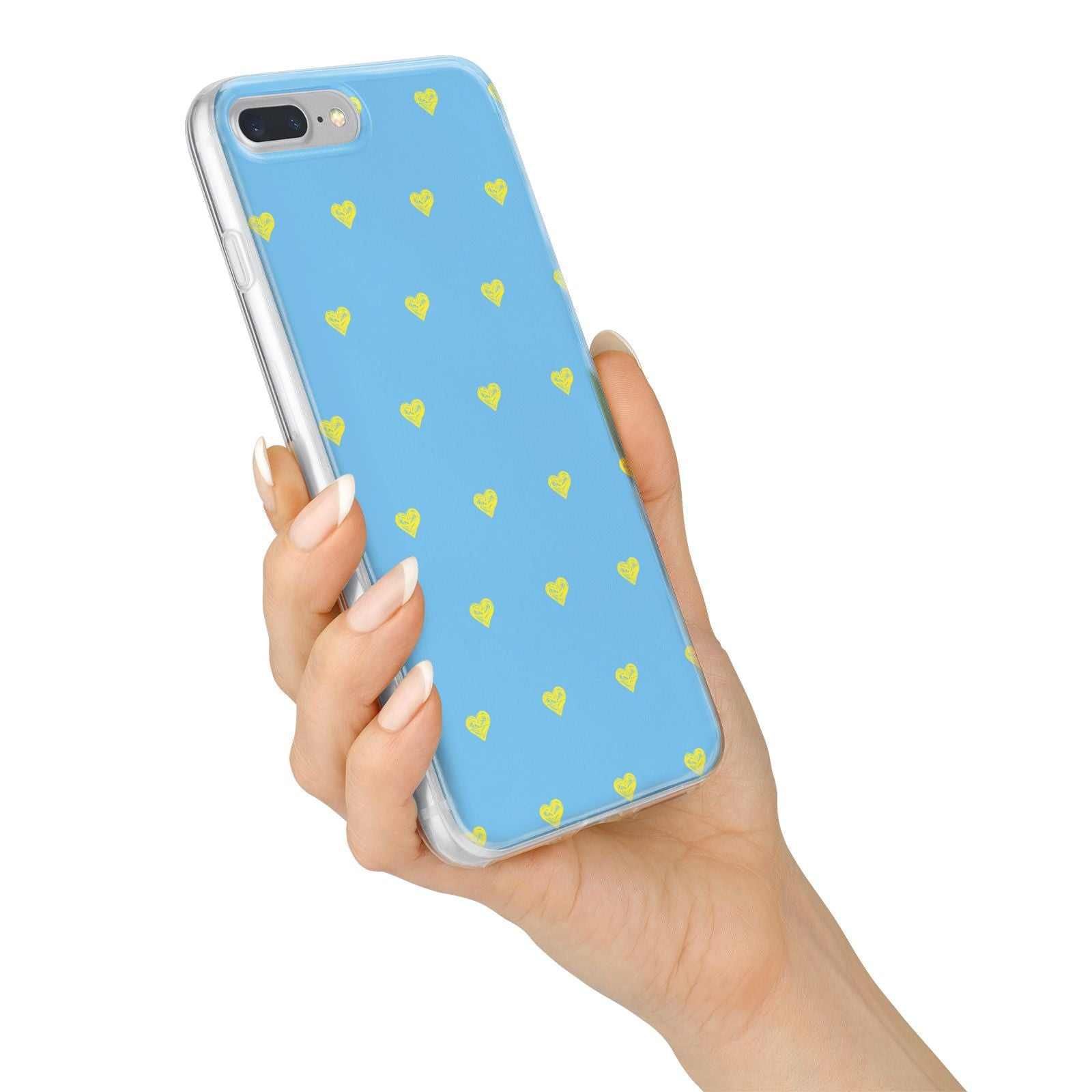 Valentines Hearts Polka Dot iPhone 7 Plus Bumper Case on Silver iPhone Alternative Image