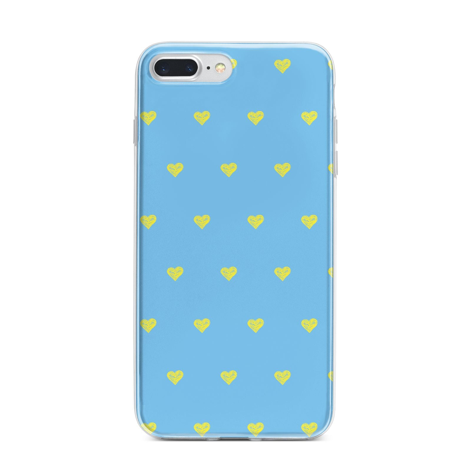 Valentines Hearts Polka Dot iPhone 7 Plus Bumper Case on Silver iPhone