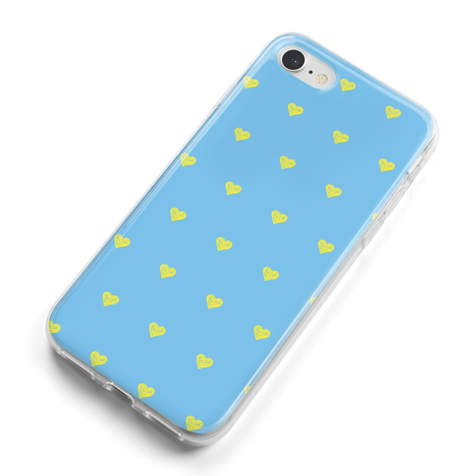 Valentines Hearts Polka Dot iPhone 8 Bumper Case on Silver iPhone Alternative Image