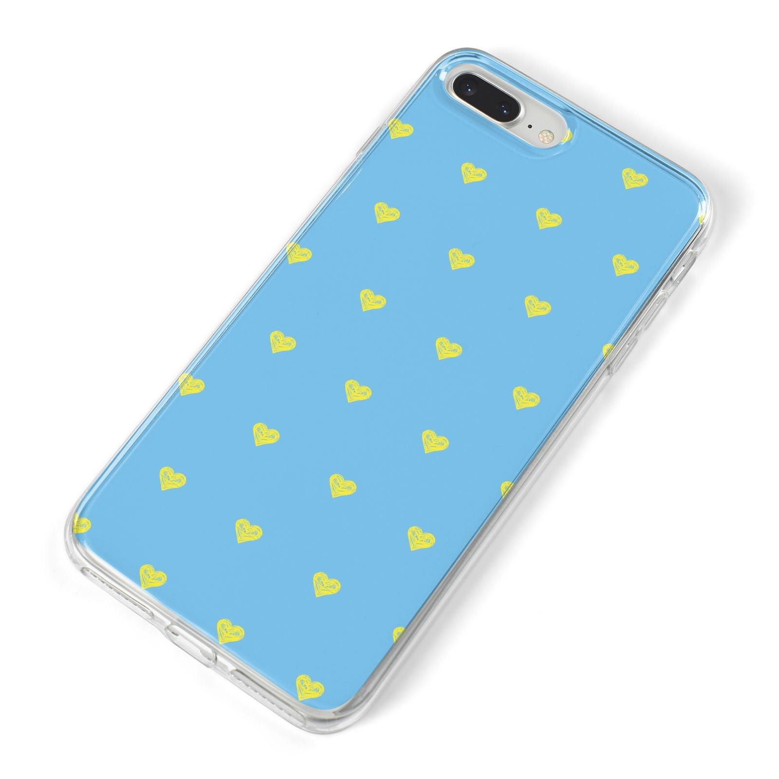 Valentines Hearts Polka Dot iPhone 8 Plus Bumper Case on Silver iPhone Alternative Image