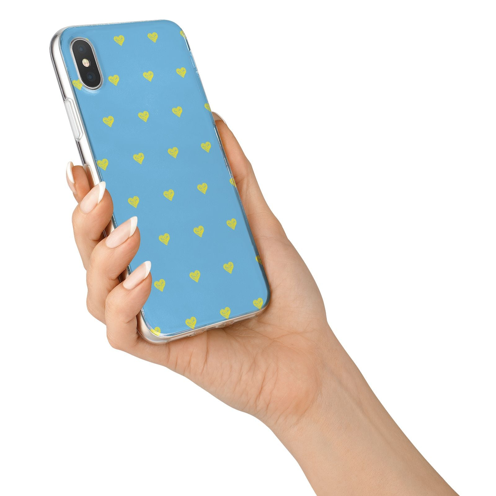 Valentines Hearts Polka Dot iPhone X Bumper Case on Silver iPhone Alternative Image 2