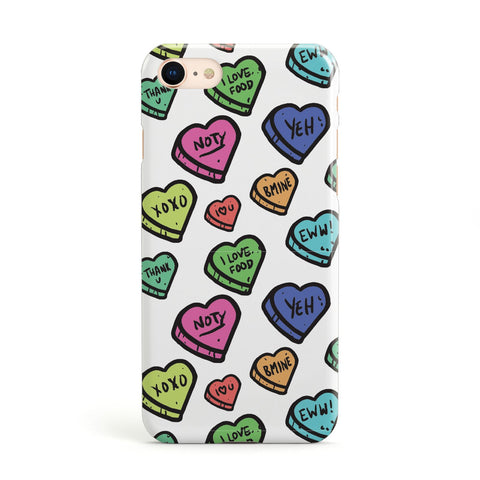 Valentines Love Heart Sweets Apple iPhone Case