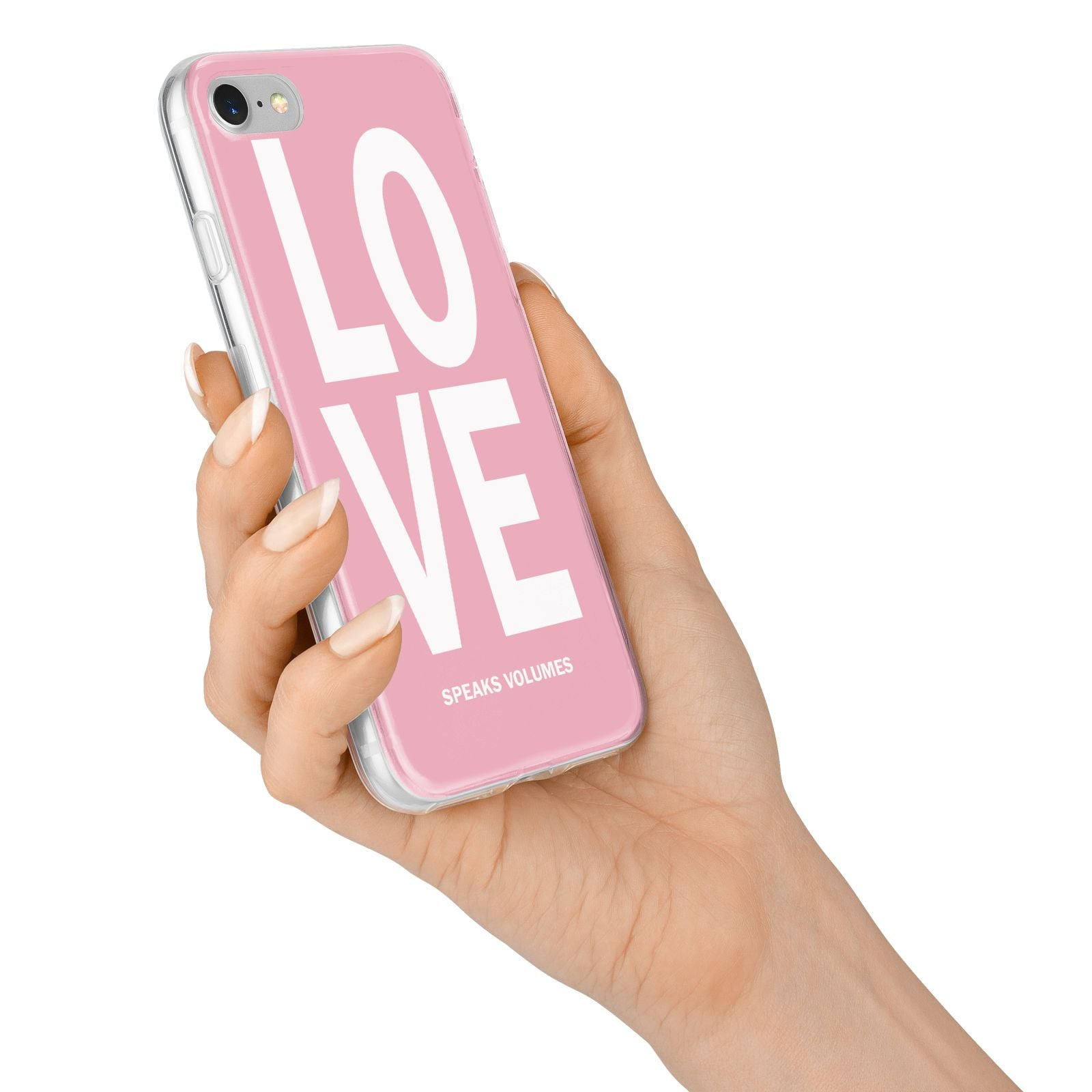 Valentines Love Speaks Volumes iPhone 7 Bumper Case on Silver iPhone Alternative Image