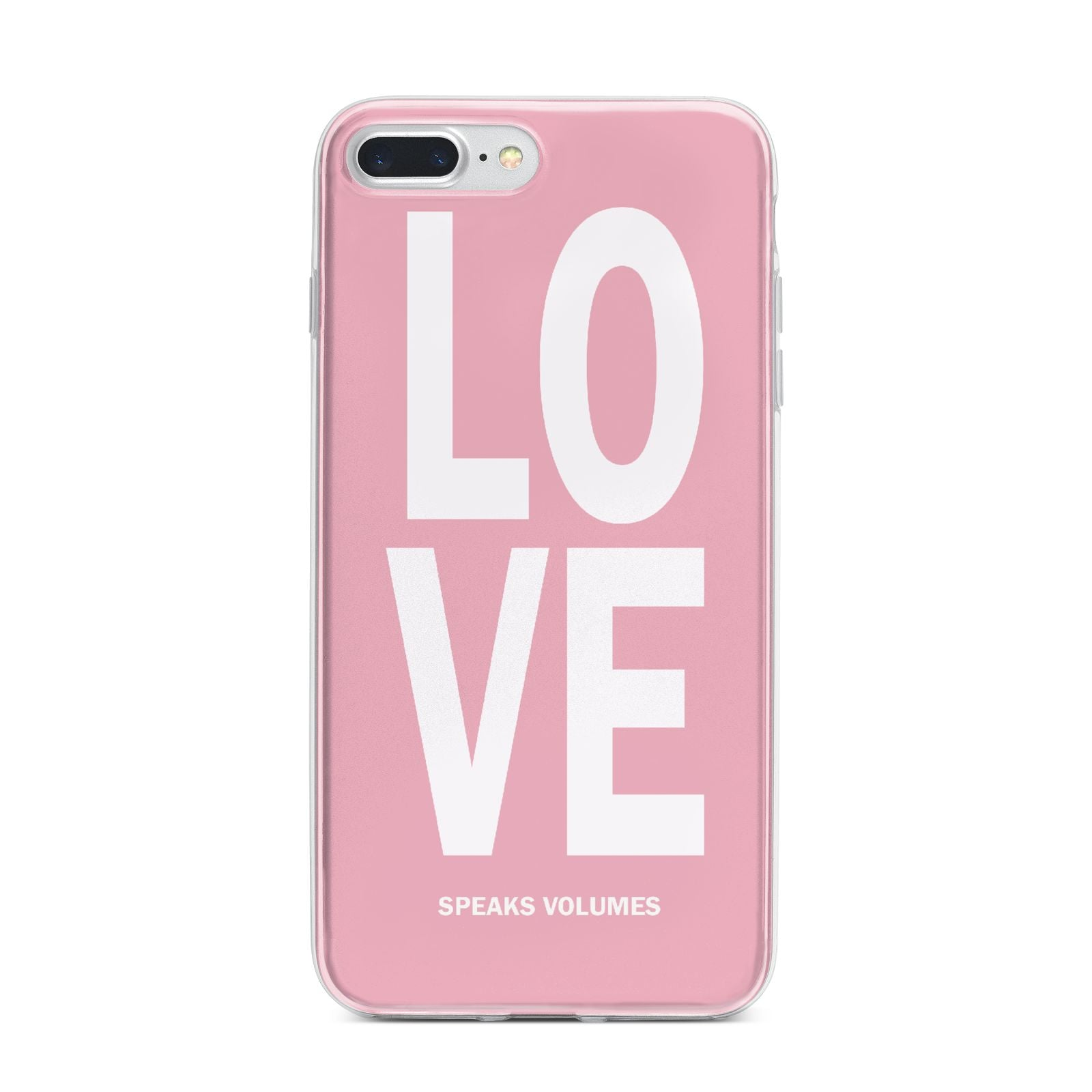 Valentines Love Speaks Volumes iPhone 7 Plus Bumper Case on Silver iPhone