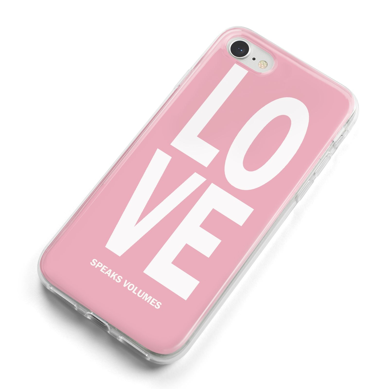 Valentines Love Speaks Volumes iPhone 8 Bumper Case on Silver iPhone Alternative Image