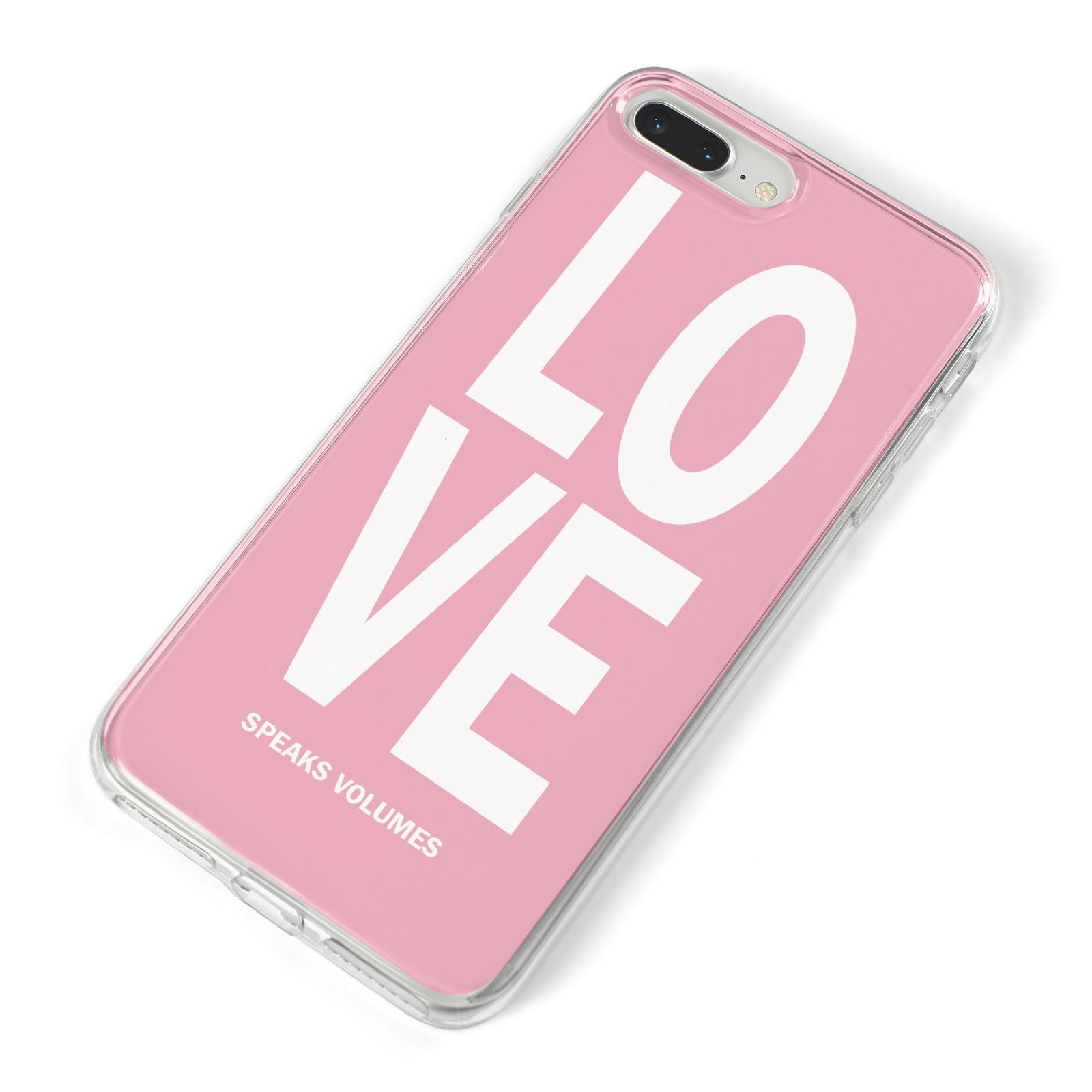 Valentines Love Speaks Volumes iPhone 8 Plus Bumper Case on Silver iPhone Alternative Image