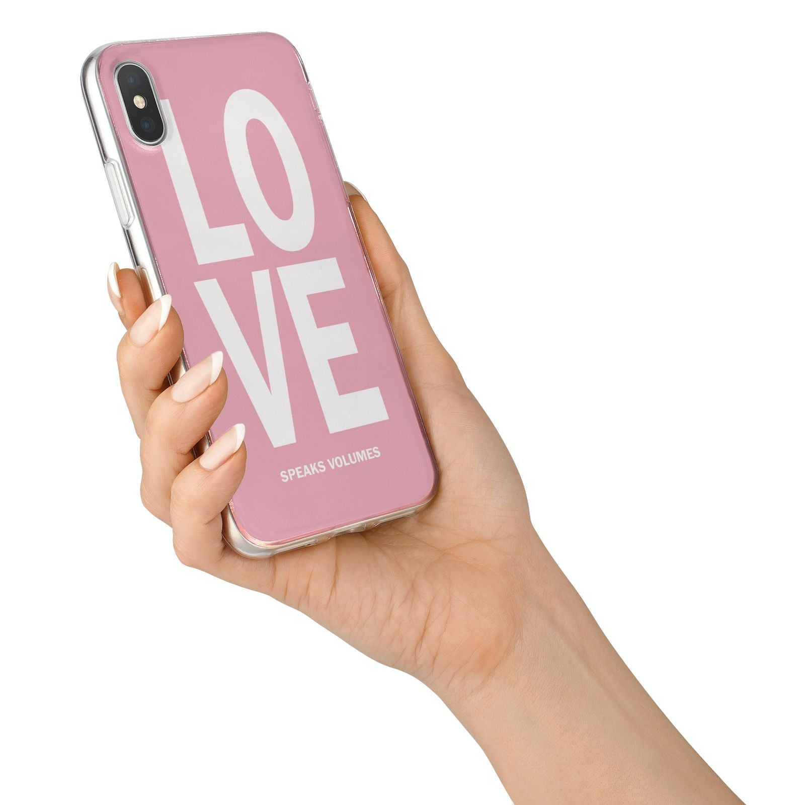 Valentines Love Speaks Volumes iPhone X Bumper Case on Silver iPhone Alternative Image 2