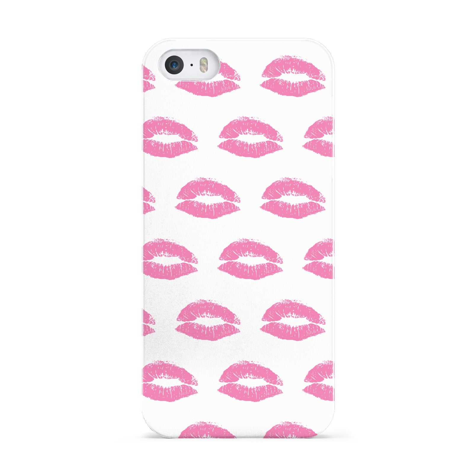 Valentines Pink Kisses Lips Apple iPhone 5 Case