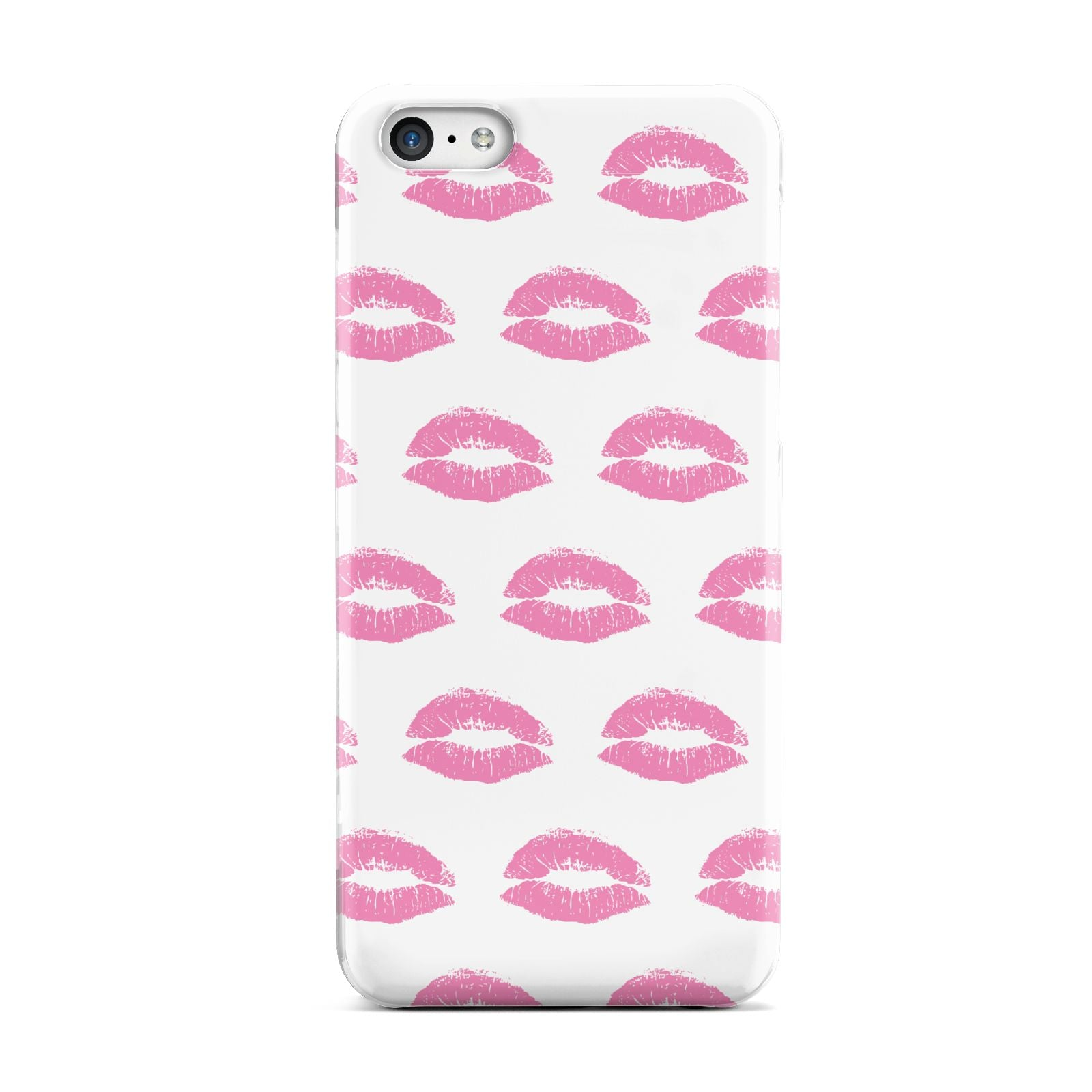 Valentines Pink Kisses Lips Apple iPhone 5c Case