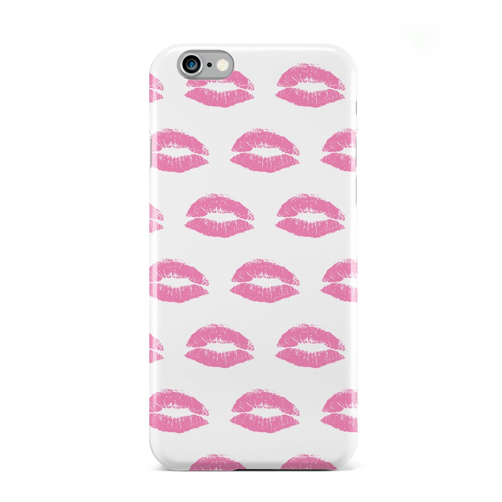Valentines Pink Kisses Lips Apple iPhone 6 Case