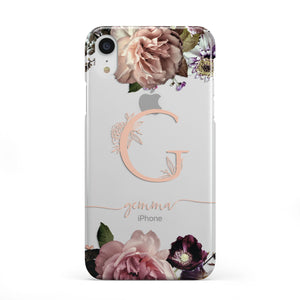 Vintage Floral Personalised Apple iPhone Case