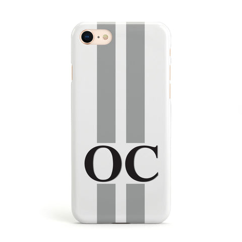 White Personalised Initials Apple iPhone Case