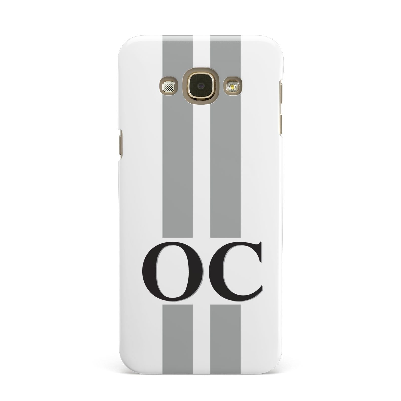 White Personalised Initials Samsung Galaxy A8 Case