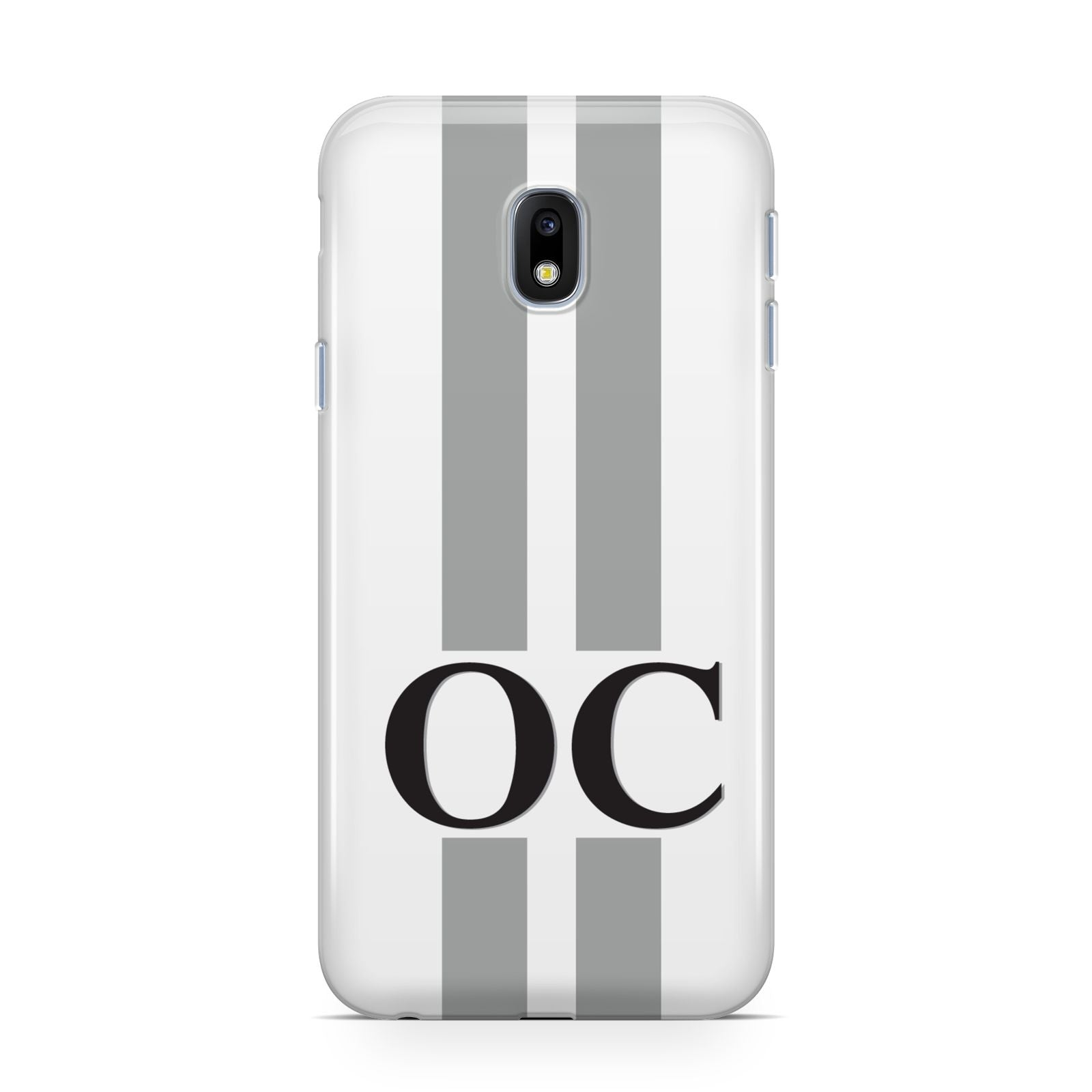 White Personalised Initials Samsung Galaxy J3 2017 Case