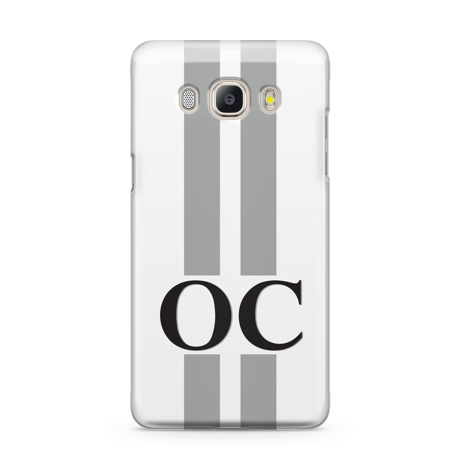 White Personalised Initials Samsung Galaxy J5 2016 Case