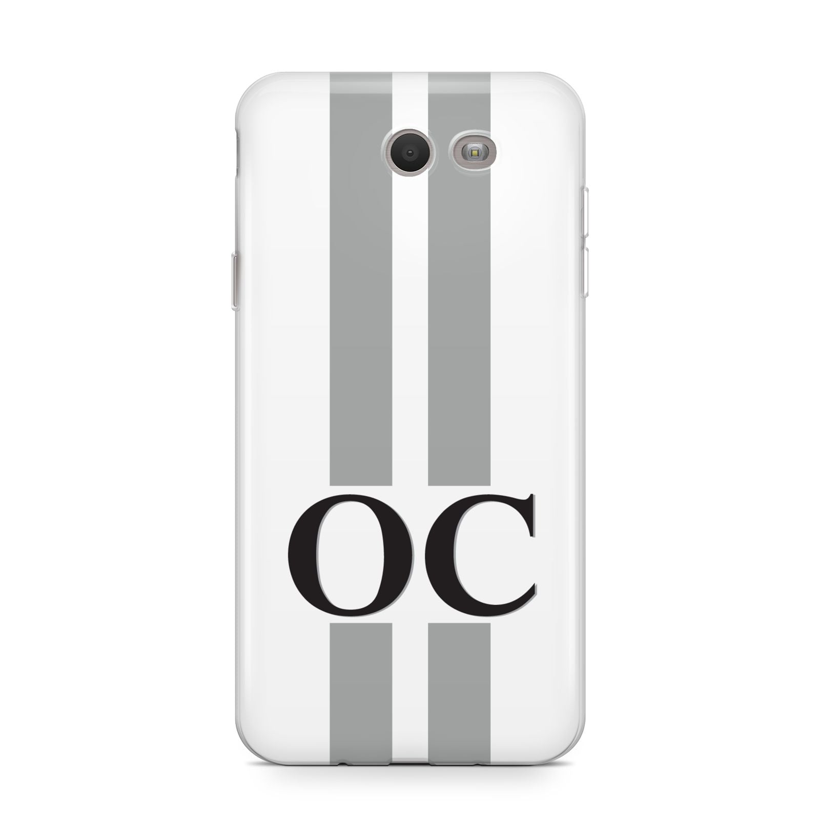 White Personalised Initials Samsung Galaxy J7 2017 Case