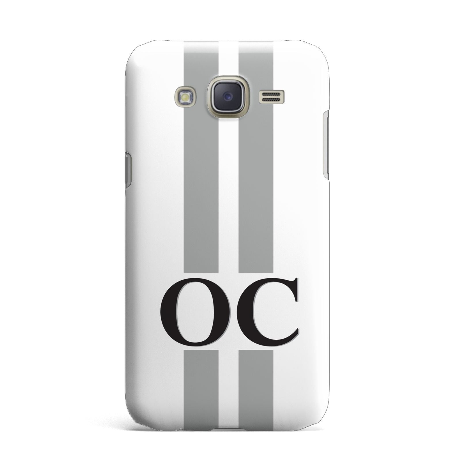 White Personalised Initials Samsung Galaxy J7 Case