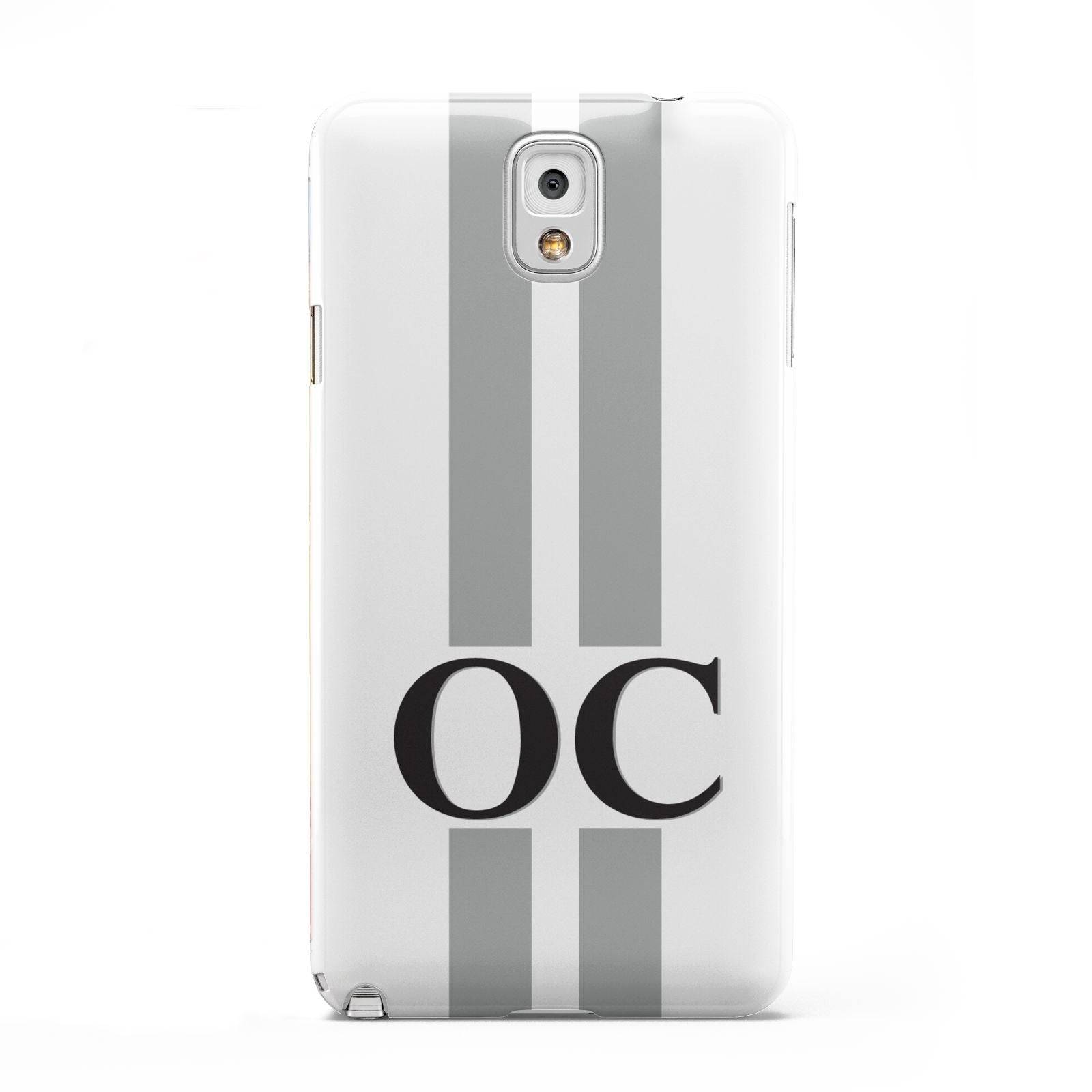 White Personalised Initials Samsung Galaxy Note 3 Case