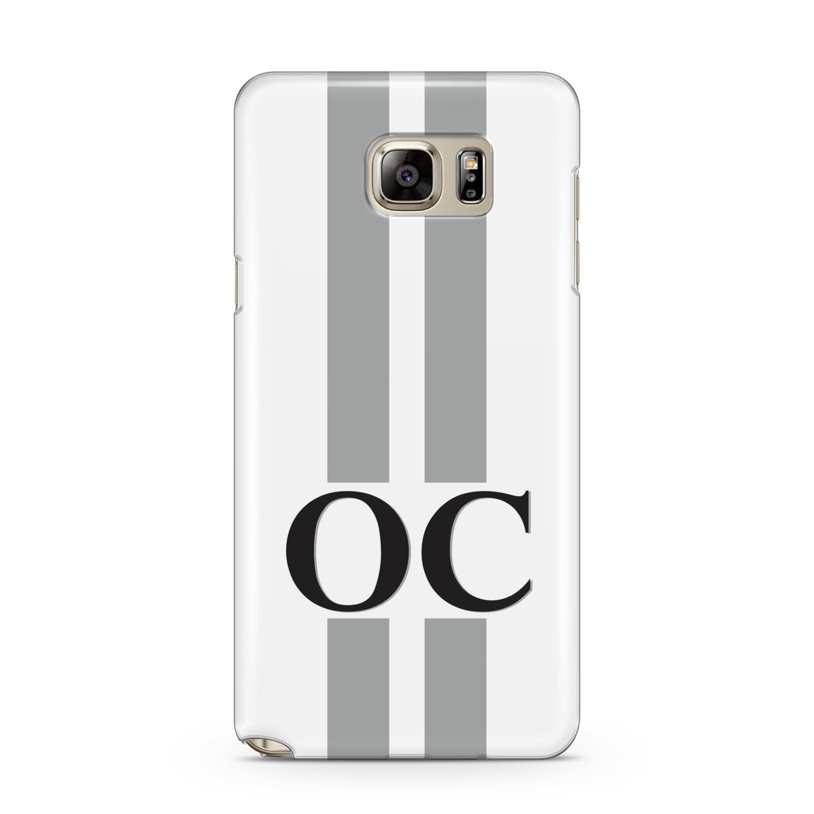 White Personalised Initials Samsung Galaxy Note 5 Case