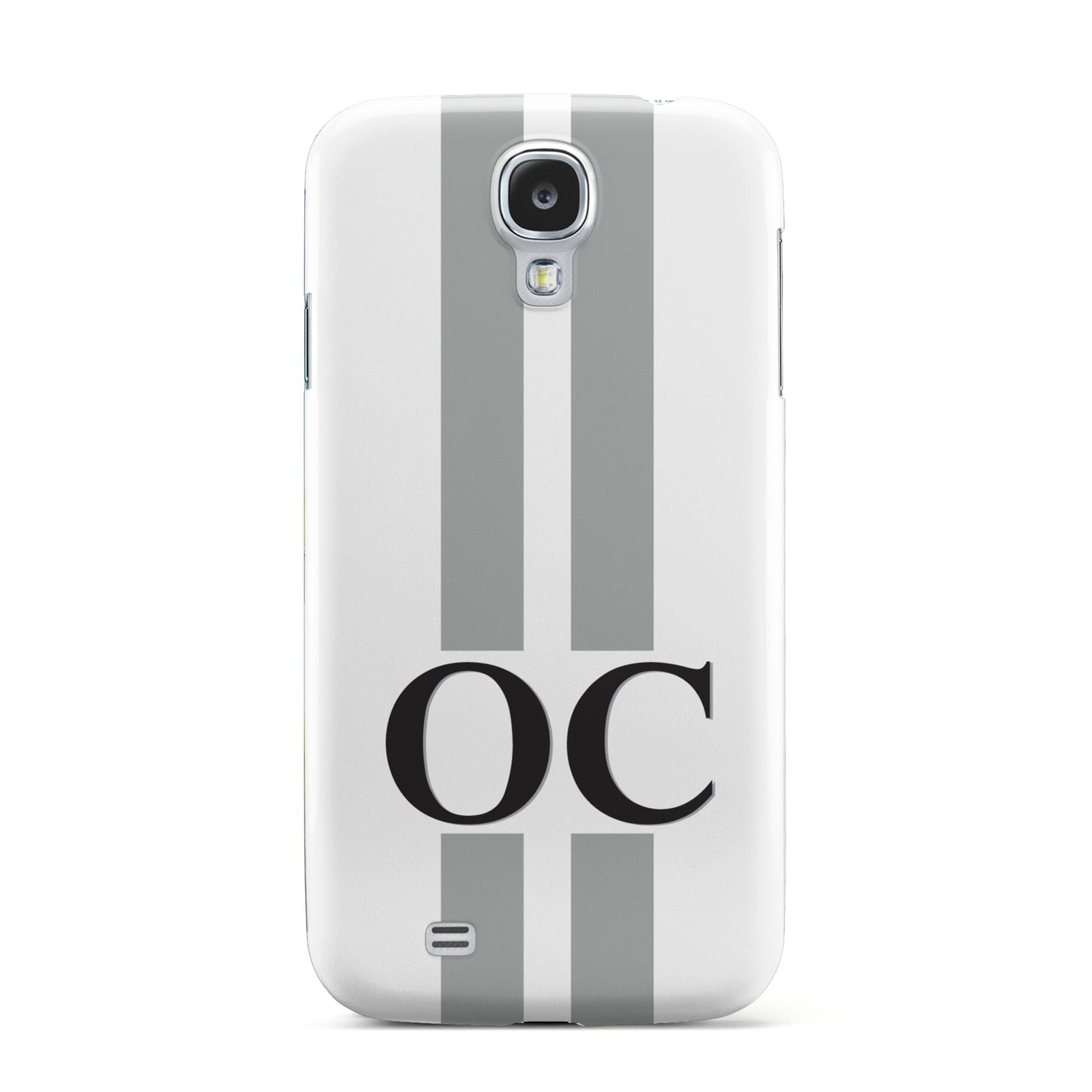White Personalised Initials Samsung Galaxy S4 Case