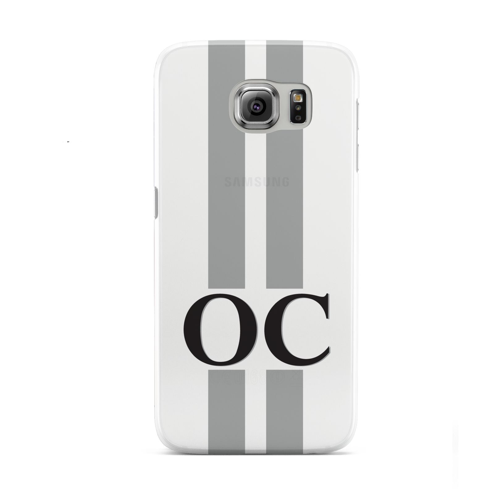 White Personalised Initials Samsung Galaxy S6 Case