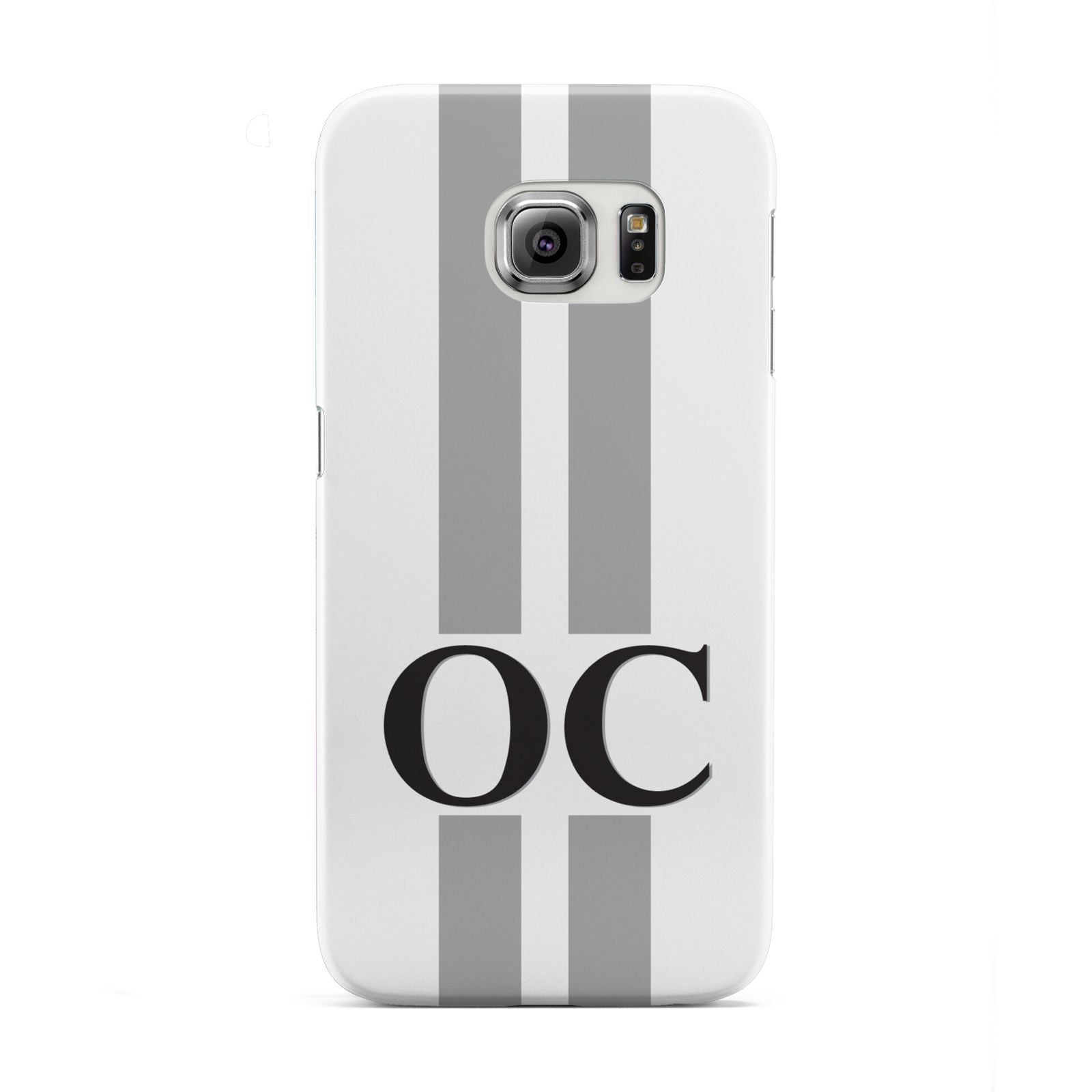 White Personalised Initials Samsung Galaxy S6 Edge Case