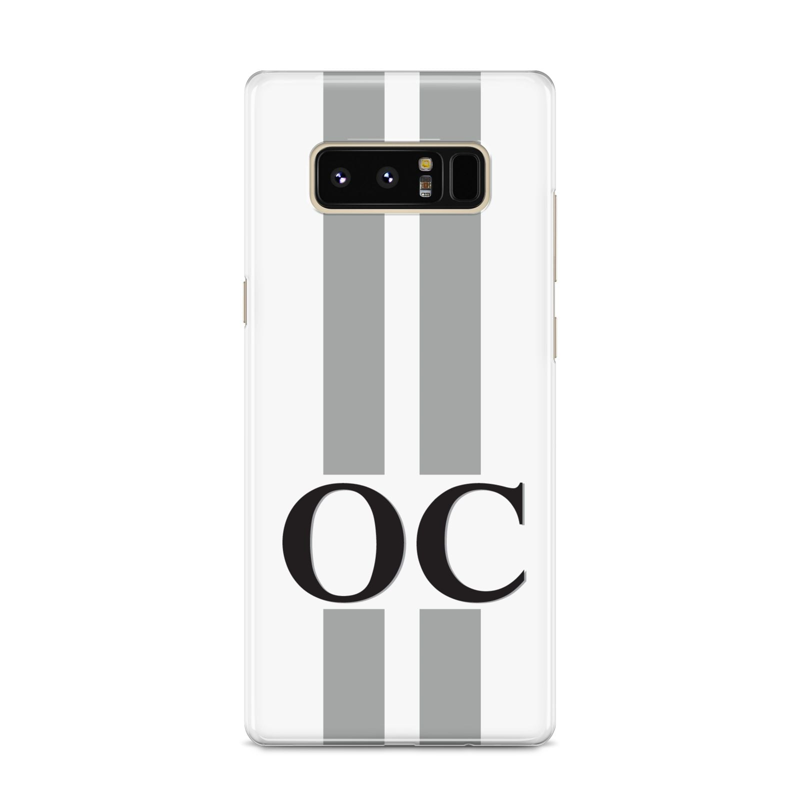 White Personalised Initials Samsung Galaxy S8 Case