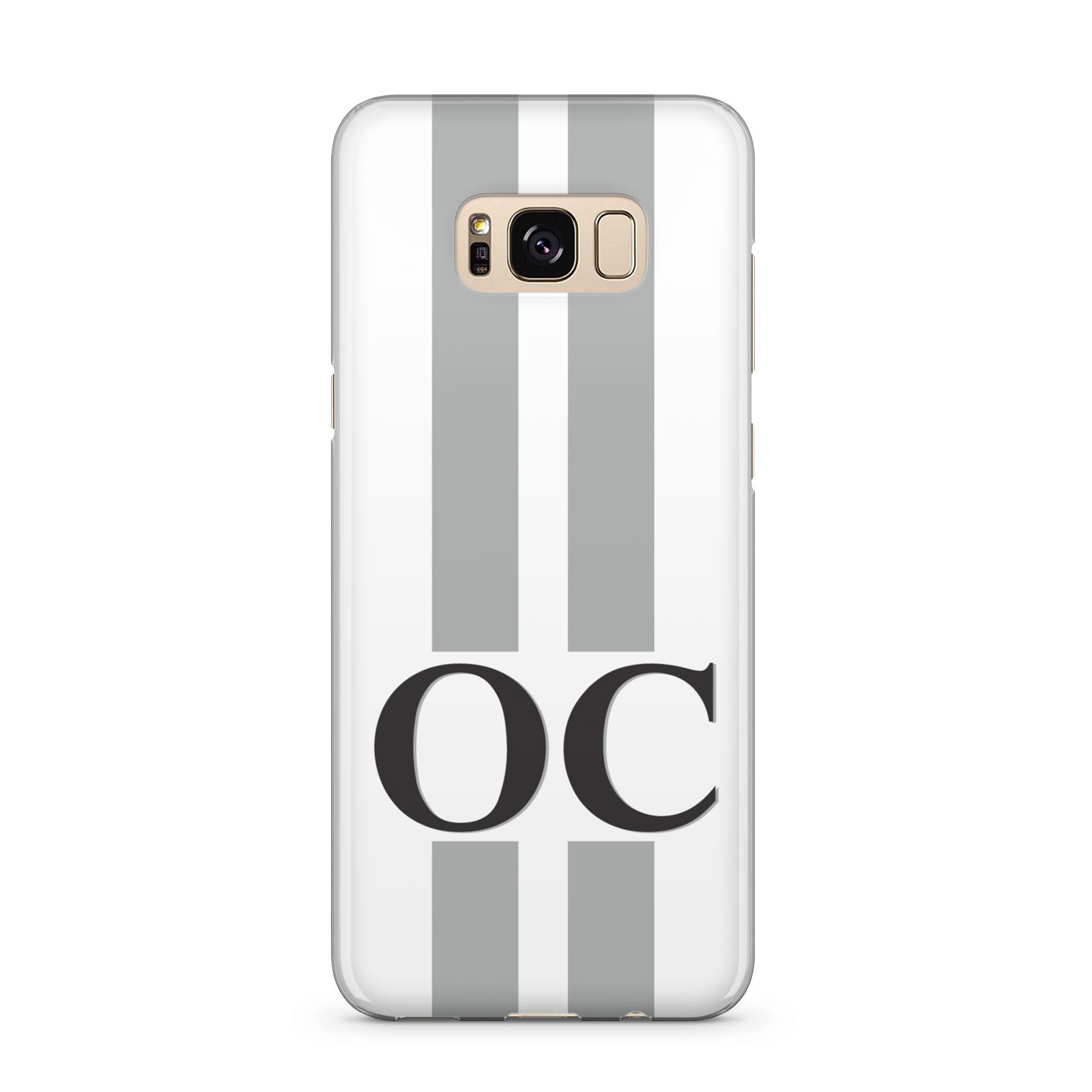 White Personalised Initials Samsung Galaxy S8 Plus Case