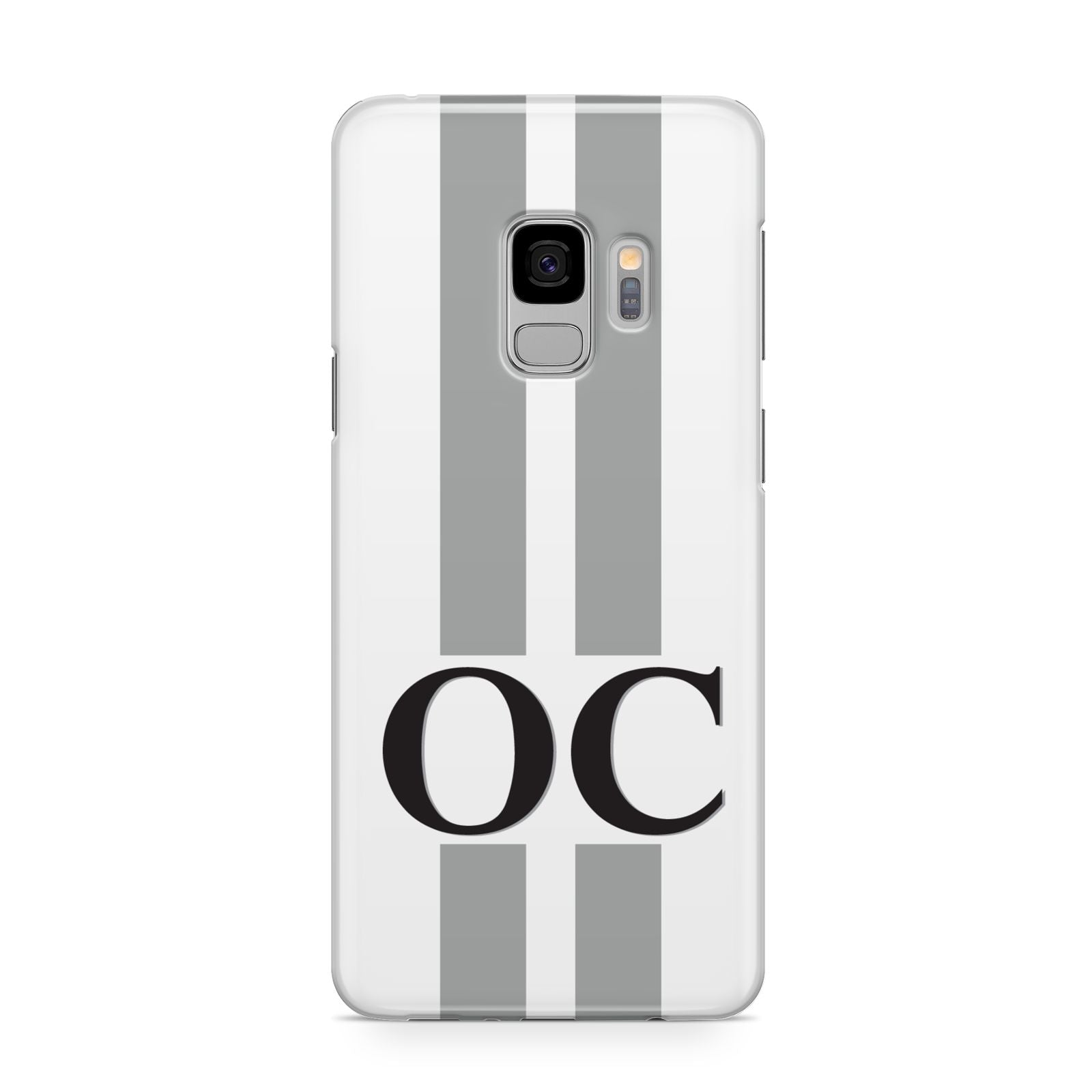White Personalised Initials Samsung Galaxy S9 Case