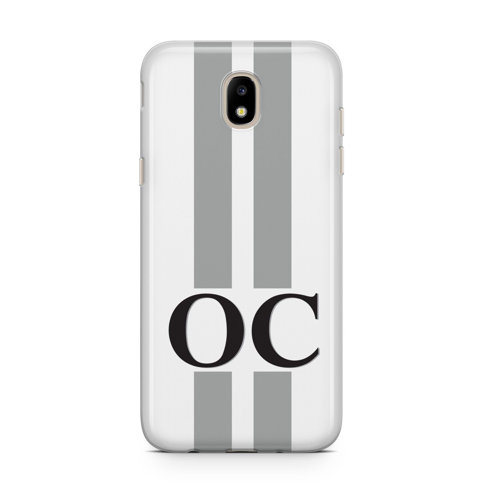 White Personalised Initials Samsung J5 2017 Case