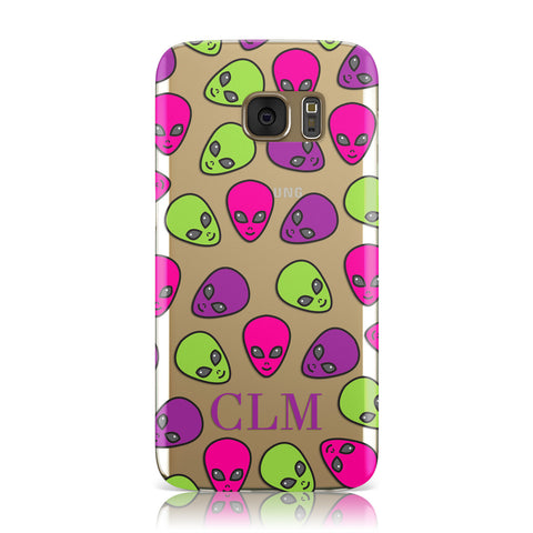 Personalised Aliens Initials Samsung Galaxy Case