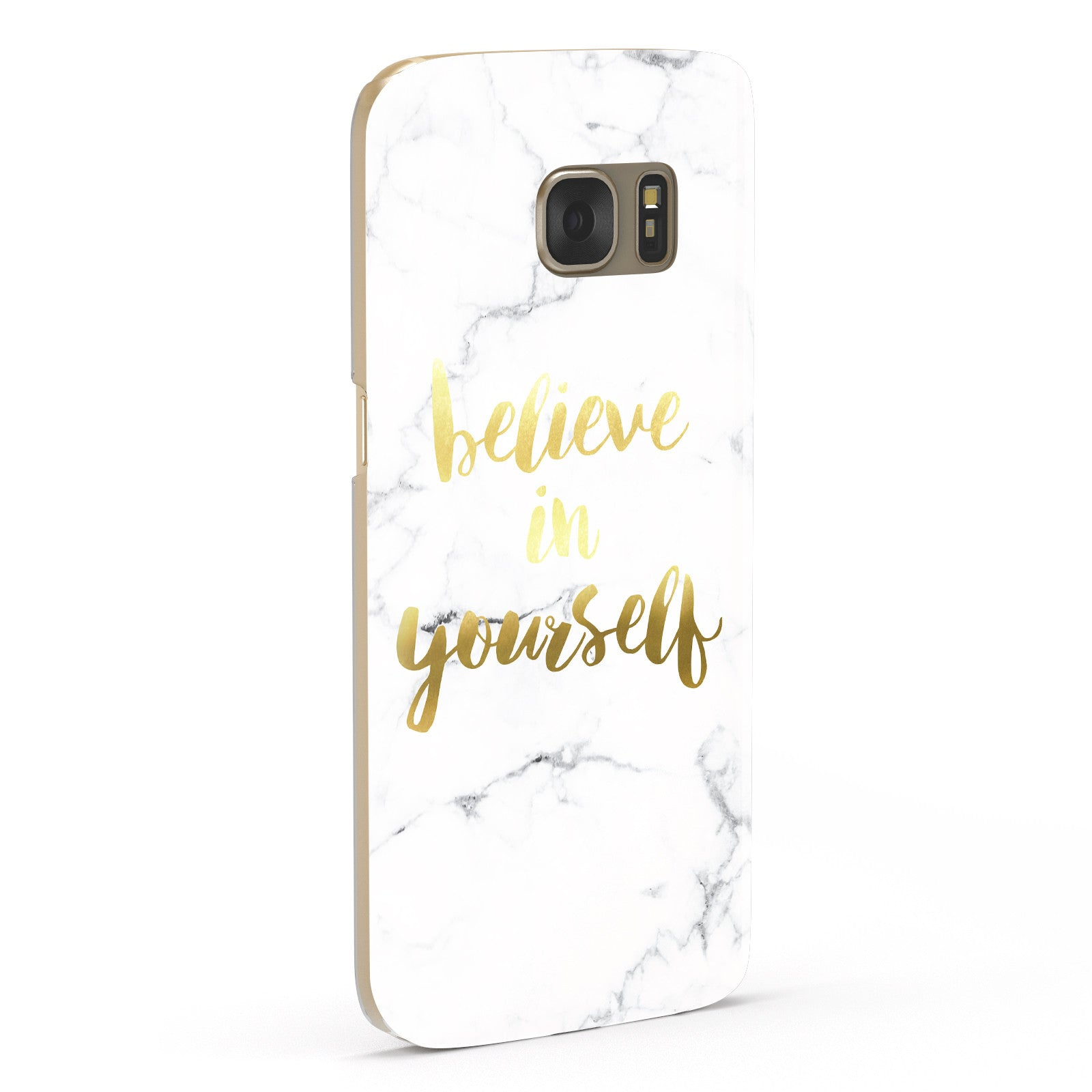 Believe In Yourself Gold Marble Samsung Galaxy Case Fourty Five Degrees
