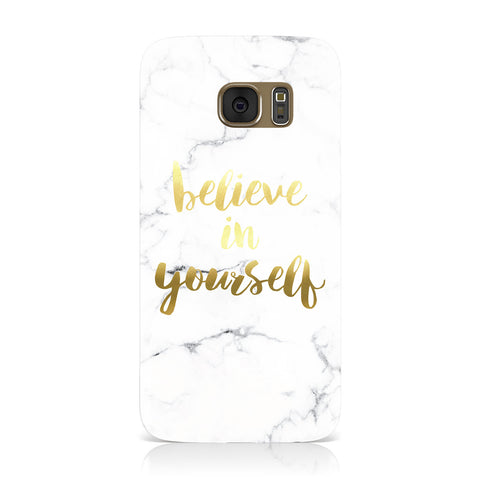 Believe In Yourself Gold Marble Samsung Galaxy Case