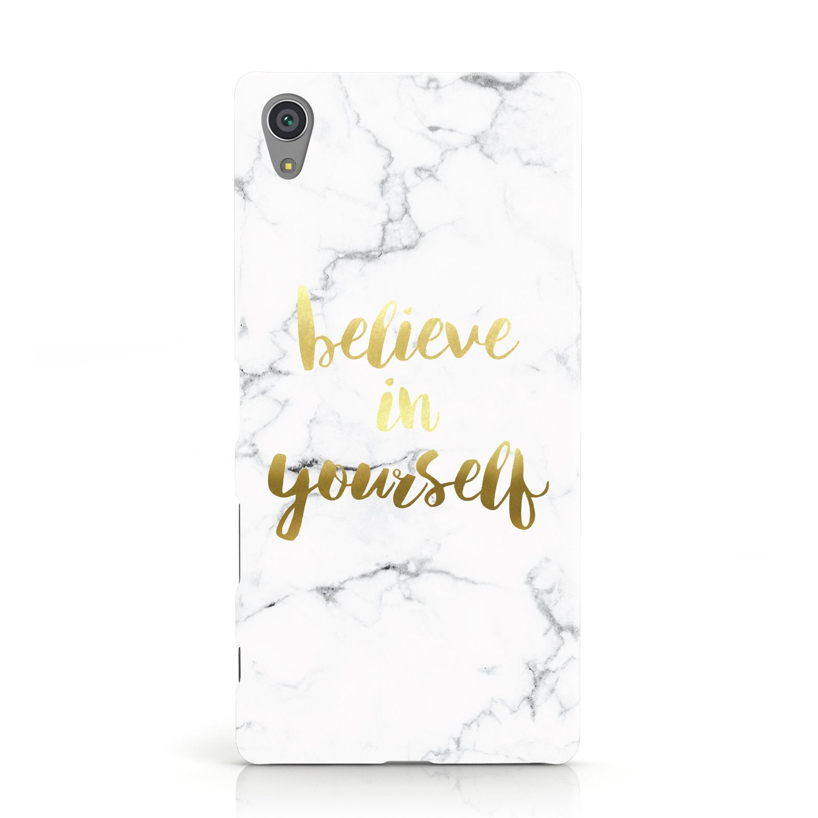 Believe In Yourself Gold Marble Sony Xperia Case