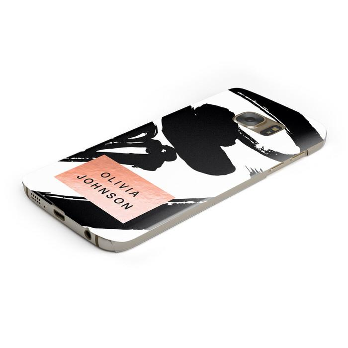 Personalised Black Brushes With Name Samsung Galaxy Case Bottom Cutout