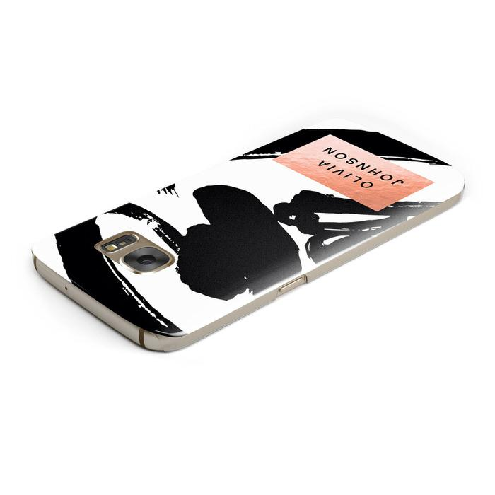 Personalised Black Brushes With Name Samsung Galaxy Case Top Cutout