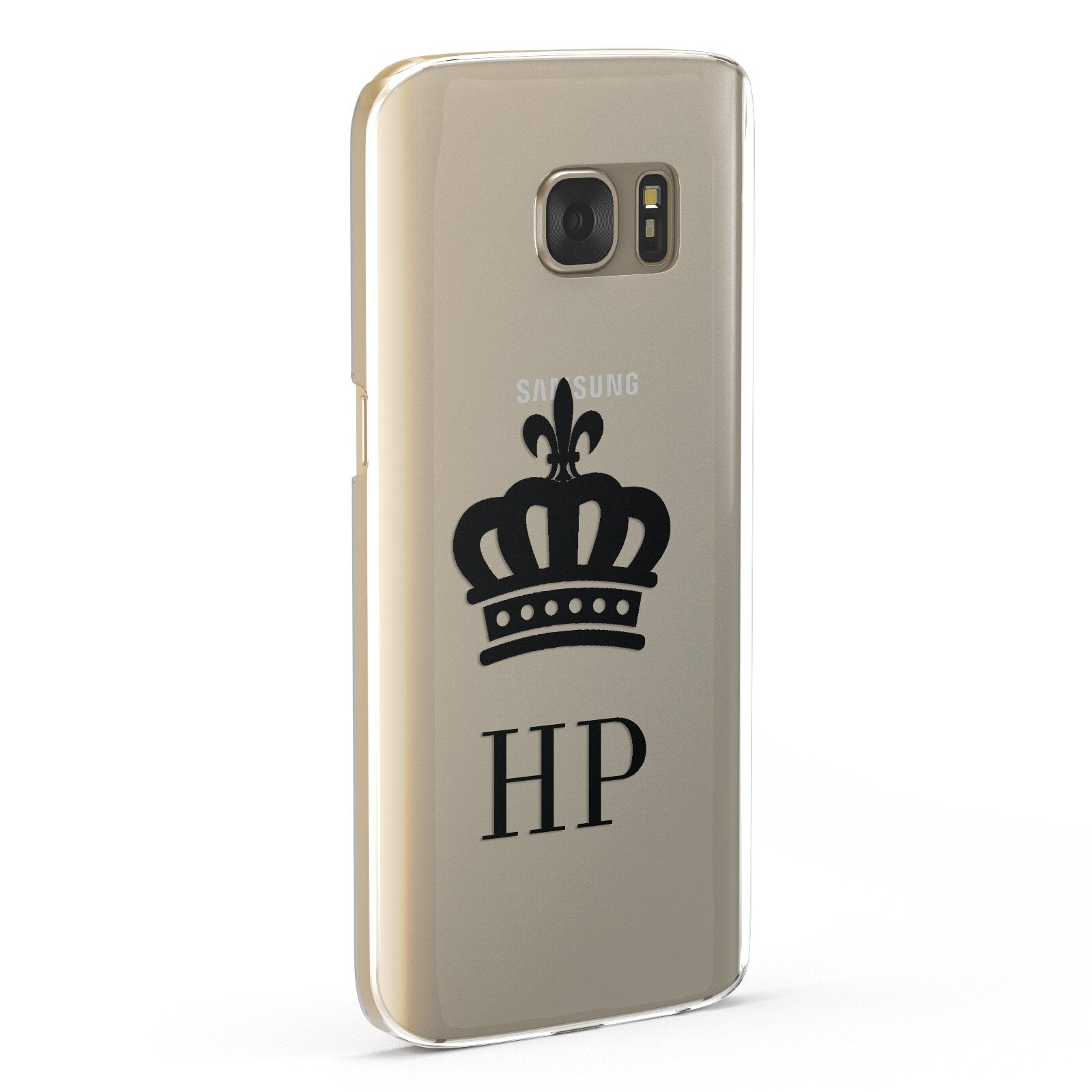 Personalised Black Crown & Initials Clear Google Case Fourty Five Degrees