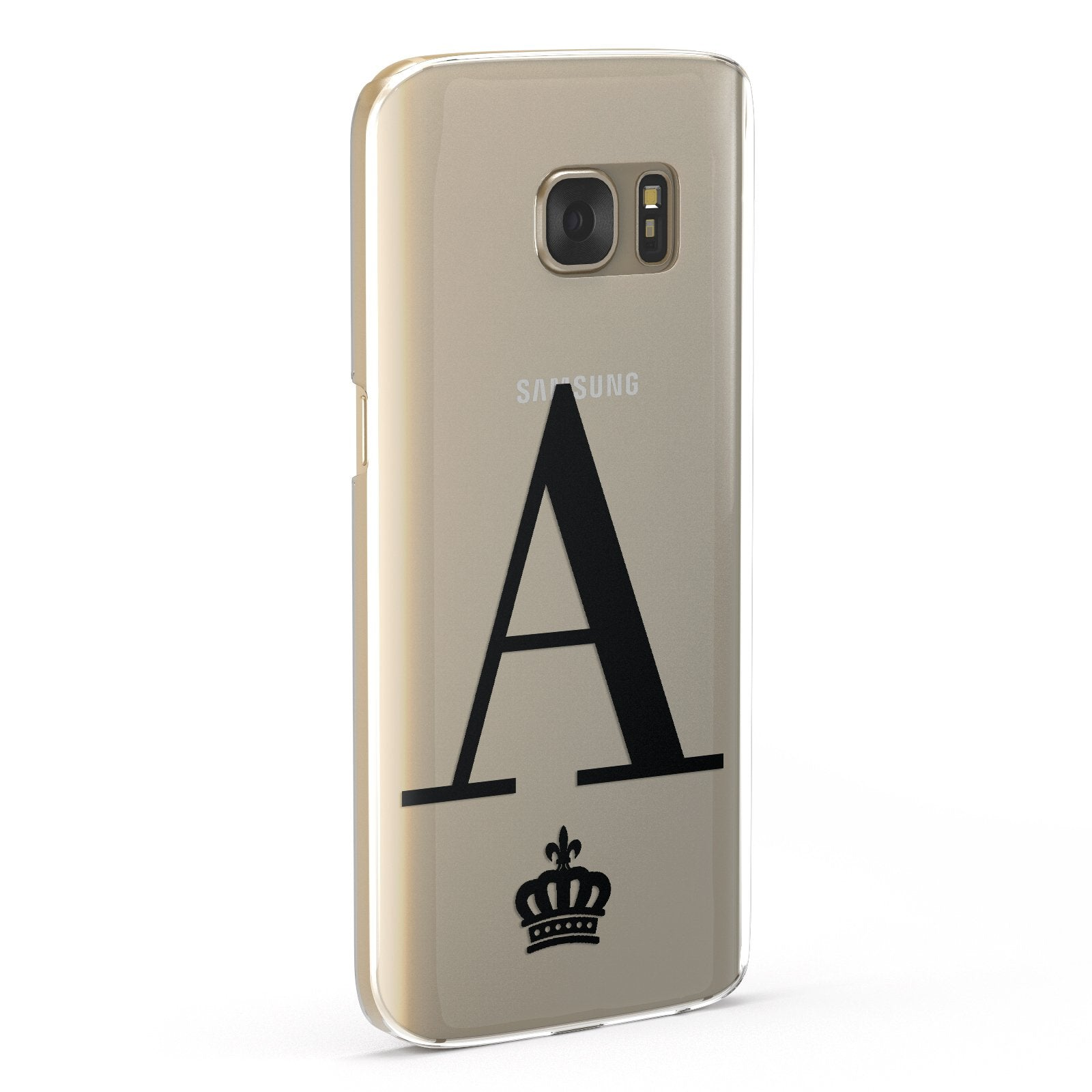 Personalised Black Initial & Crown Clear Google Case Fourty Five Degrees